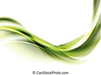 Bright green abstract flowing dynamic waves background