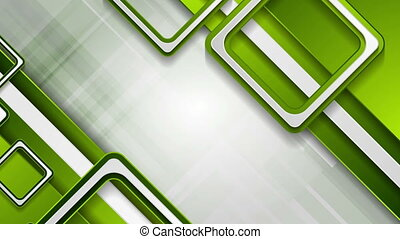 Bright green abstract tech geometric video animation