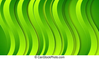 Bright green abstract wavy video animation