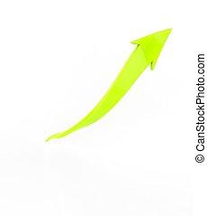 Bright Green Arrow