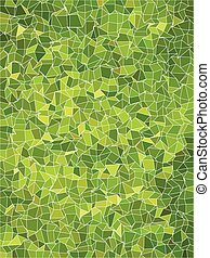 Bright green art geometric with white line pattern