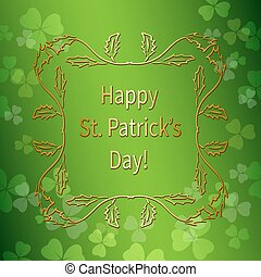 bright green background for st patrick's day - vector gradient