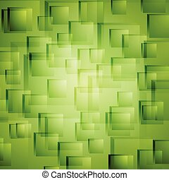 Bright green geometric vector background