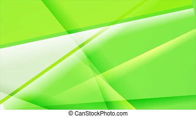 Bright green glossy stripes abstract motion design. Seamless...