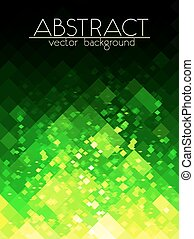 Bright green grid abstract vertical background