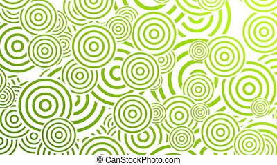 Bright green retro circles abstract motion design