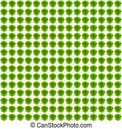 bright green spheres field