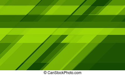 Bright green tech abstract geometric video animation