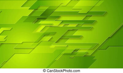 Bright green tech geometric abstract motion background