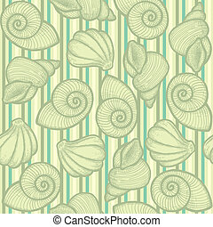 Bright green texture with shells