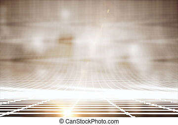 Bright grid lines - Abstract bright grid lines on blurry...
