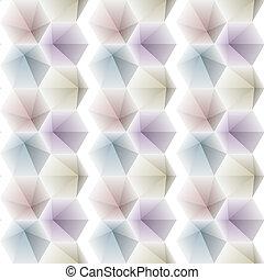 Bright hexagonal pattern of triangular gradient dies