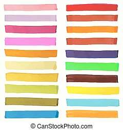 Bright highlight brightly scribble banner, stylish ...