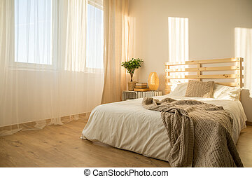 Bright hipster bedroom