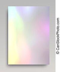 Bright hologram backdrop