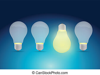 bright idea illustration design