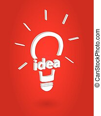 Bright Idea Insight Concept Vector Illustration