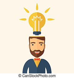 Bright idea of man