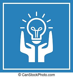 Bright idea sign - Bright idea vector sign
