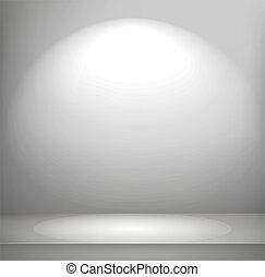 Bright illuminated room vector illustration
