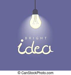 Bright illustration of lightbulb