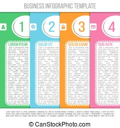 Bright infographic template suitable for business...