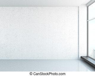 bright interior with window