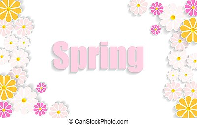 Bright juicy spring background with wild flowers