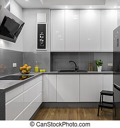 Bright kitchen in apartment
