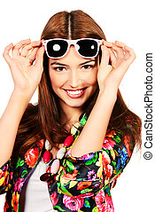bright life - Portrait of a beautiful cheerful woman in...