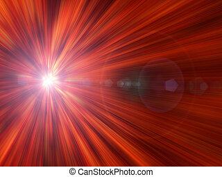 Bright light against Orange background