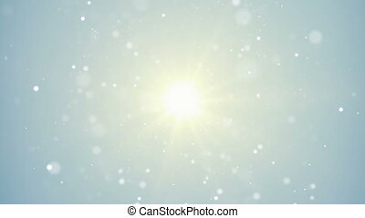 bright light and flying particles loop background - bright...