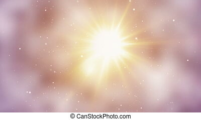 bright light and particles loop background - bright light...