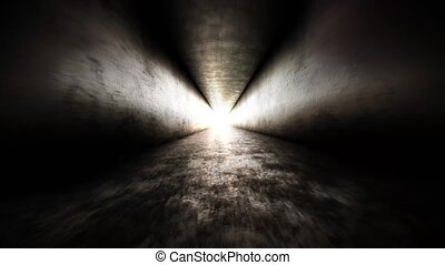Bright light at the end of the tunnel and flying into the...