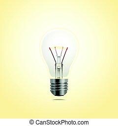Bright lightbulb vector illustration