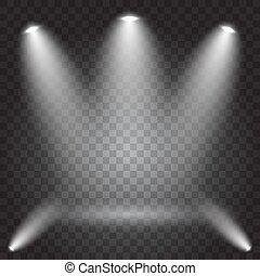 Bright lighting with spotlights