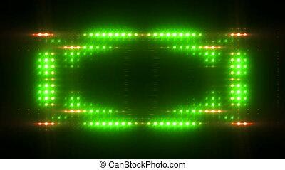 Bright lights flicker. HD, loop