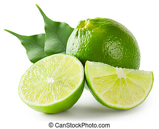 Bright lime green with leaves