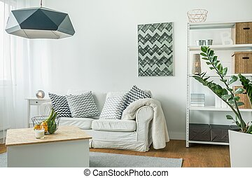 Bright living room - Very bright living room with white...