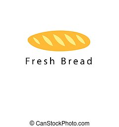 Bright loaf of bread - Graphic symbol of a bright loaf of...