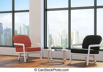 Bright lobby interior - Bright living room or office lobby...