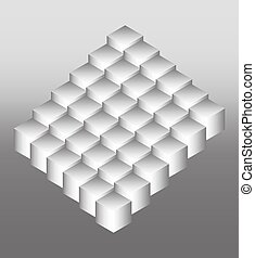 Bright logo of the cubic structure