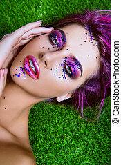 bright make-up cosmetics