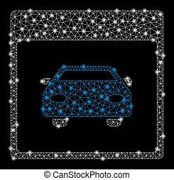 Bright Mesh 2D Automobile Car Calendar Page with Flash Spots