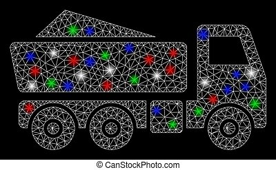 Bright Mesh 2D Tipper with Flash Spots