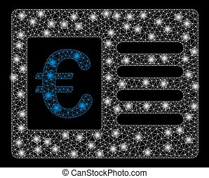 Bright Mesh Carcass Euro Bank Account with Flash Spots -...