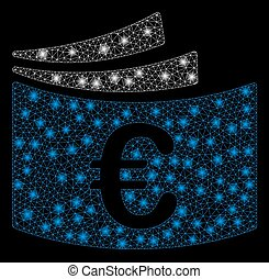 Bright Mesh Carcass Euro Checkbook with Flare Spots - Bright...