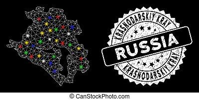 Bright Mesh Network Krasnodarskiy Kray Map with Flash Spots ...