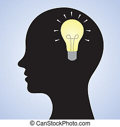 Bright mind concept