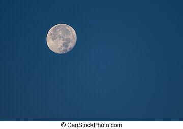 Bright Moon on Blue Sky